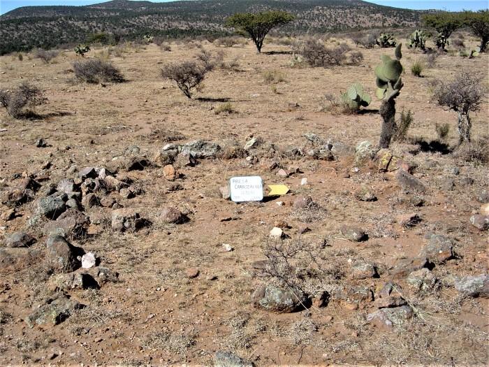 Cimientos de antiguas construcciones prehispánicas. Sitio El Carrizalillo. Foto Carlos Alberto Torreblanca. INAH.