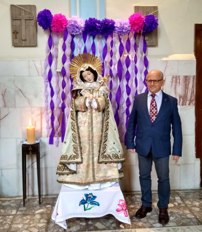 El director general del INAH, Diego Prieto, enfatizó que en la imagen se plasman diversas historias la de su devenir simbolismo, la de su orden y la del México virreinal.