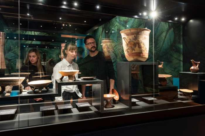 La magna exhibición Aztecas, la cual presenta 228 obras del arte mexica ha sido admirada por 60,000 personas en la ciudad alemana de Stuttgart. Foto Linden-Museum Stuttgart.